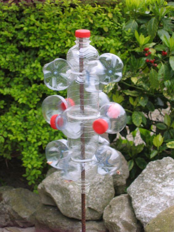 windmolen van plastic flesjes