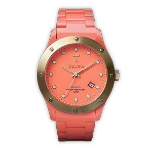 Coral: Coral And Gold, Coral Watch, Triwa Watches, Triwa Sunrize, Colored Watch, Gold Watches, Sunrize Brasco, Cute Watches, Brasco Watch