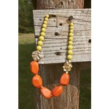 Southern Comfort Necklace-Coral - $24.00