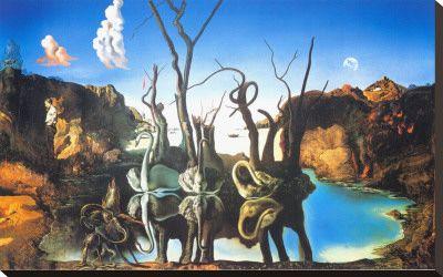 I find art makes me happy! SALVIDOR DALI REFLECTIONS OF ELEPHANTS