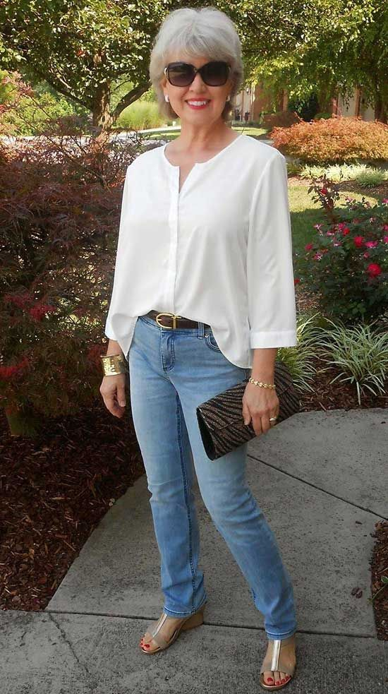 Casual Summer Outfit For 50 Year Old Woman Fashion Clothes For Women Over 50 Chic Summer Outfits