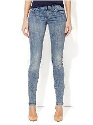 Curve Creator Skinny Jean - Tumbled Blue Wash - New York & Company