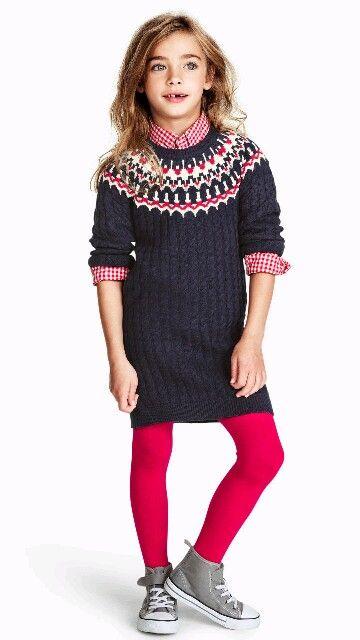 H&ampM girls sweater dress  Kids Style  Pinterest  Girls sweaters ...