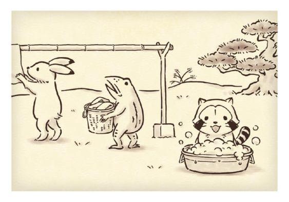 鳥獣戯画とラスカル
