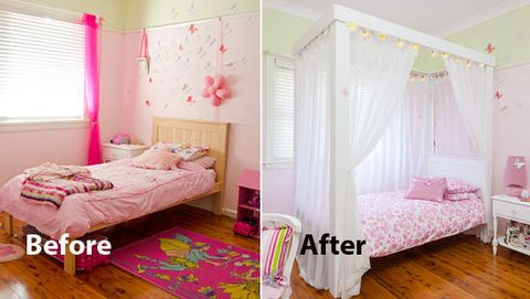 How To Make A Four Poster Princess Bed Turning A Plain