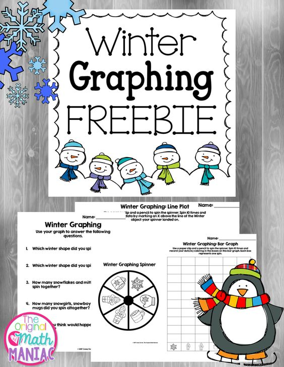 Just dropping in to share my cute winter graphing FREEBIE! Practice bar graphs AND line plots and analyze data with one simple spin & graph ...