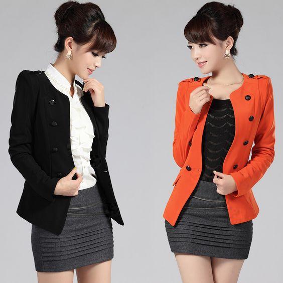 2013 Women fashion short women jackets coat / blazers classic ...