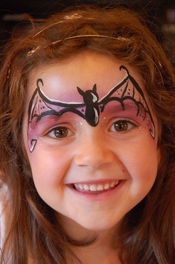 Bat girl face paint