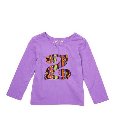 Another great find on #zulily! Purple Halloween Initial Long-Sleeve Shirt - Infant, Kids & Tween #zulilyfinds