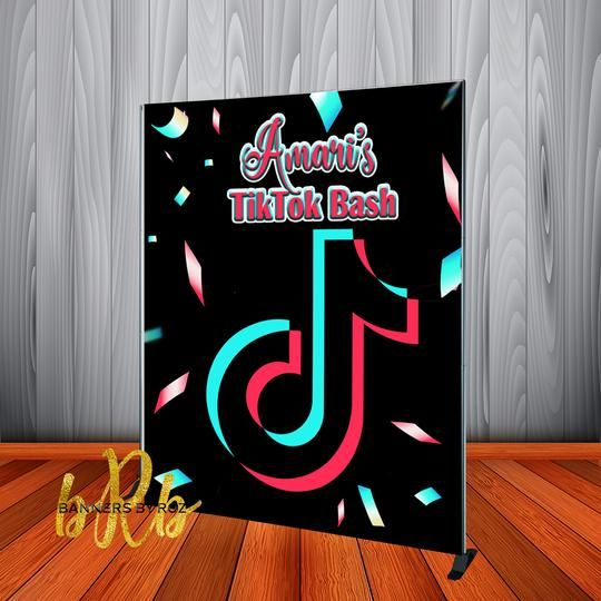 Tik Tok Backdrop Personalized Step Repeat Designed Printed Shipped In 2020 Banner Backdrop Backdrops Backdrops For Parties