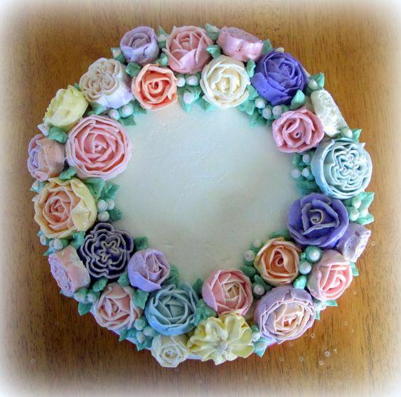 Top view of Grandma's cake: