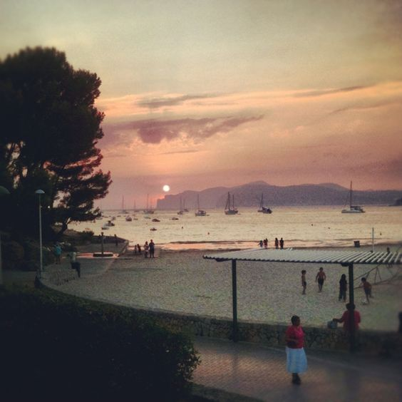 Sunset in Santa Ponsa Majorca.