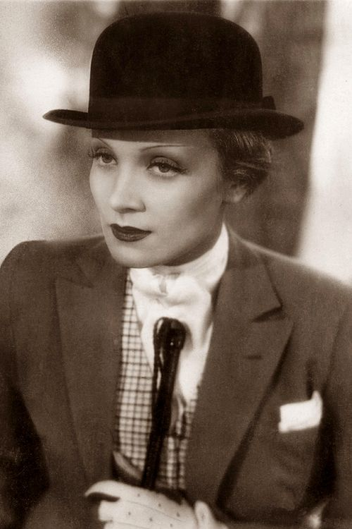 Marlene Dietrich was an important woman of the 1930's who really started to embrace women in menswear. She really created the idea of women in power suits and tuxedos while adding a women's touch.: