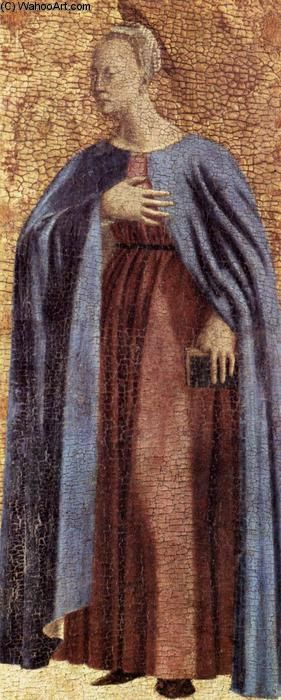 'Polyptych of the Misericordia: Virgin Annunciate', Oil On Panel by Piero Della Francesca (1415-1492, Italy)