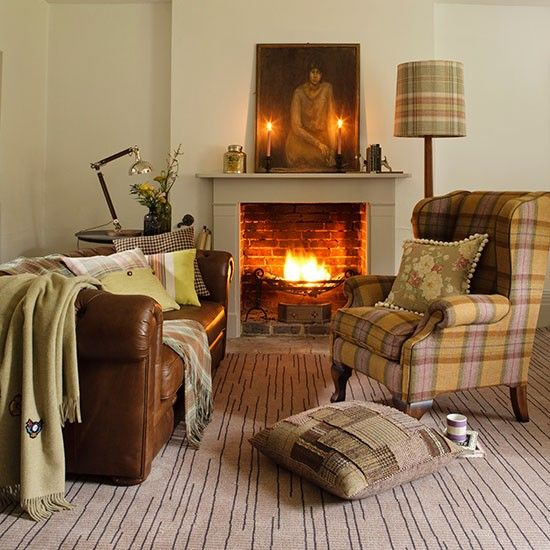 Get The Look A Chic Cabin That Reinvents Our Idea Of: Leather Sofas, Tartan And Leather Couches On Pinterest