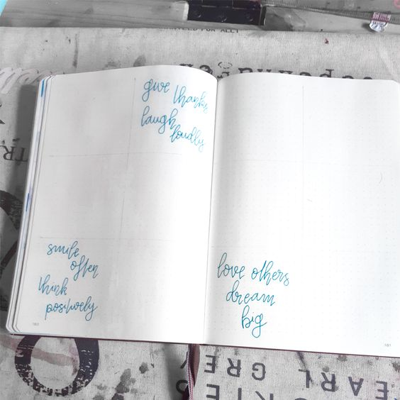 Un weekly wieiw step by step étape 2 : le lettering