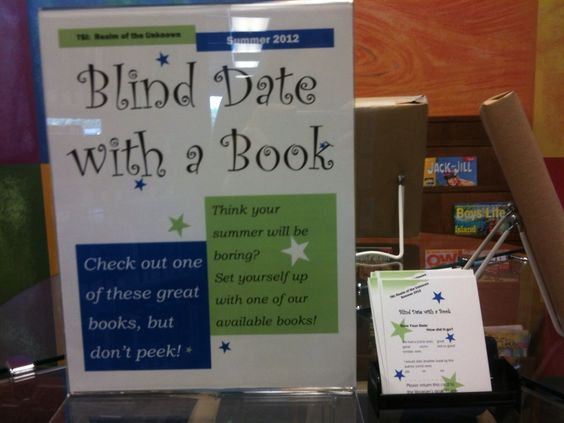 What Happens In Storytime...: Display - Blind Date with a Book: Blind Date With A Book, Amazing Idea, Book Display, Library Book, Book Book, Blind Book, Awesome Idea, Picture Book