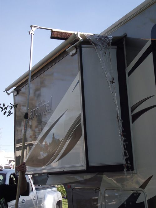 Slide Out Sweep A Must Have For Rv Owners Rv Remodeled Campers Trailer Living