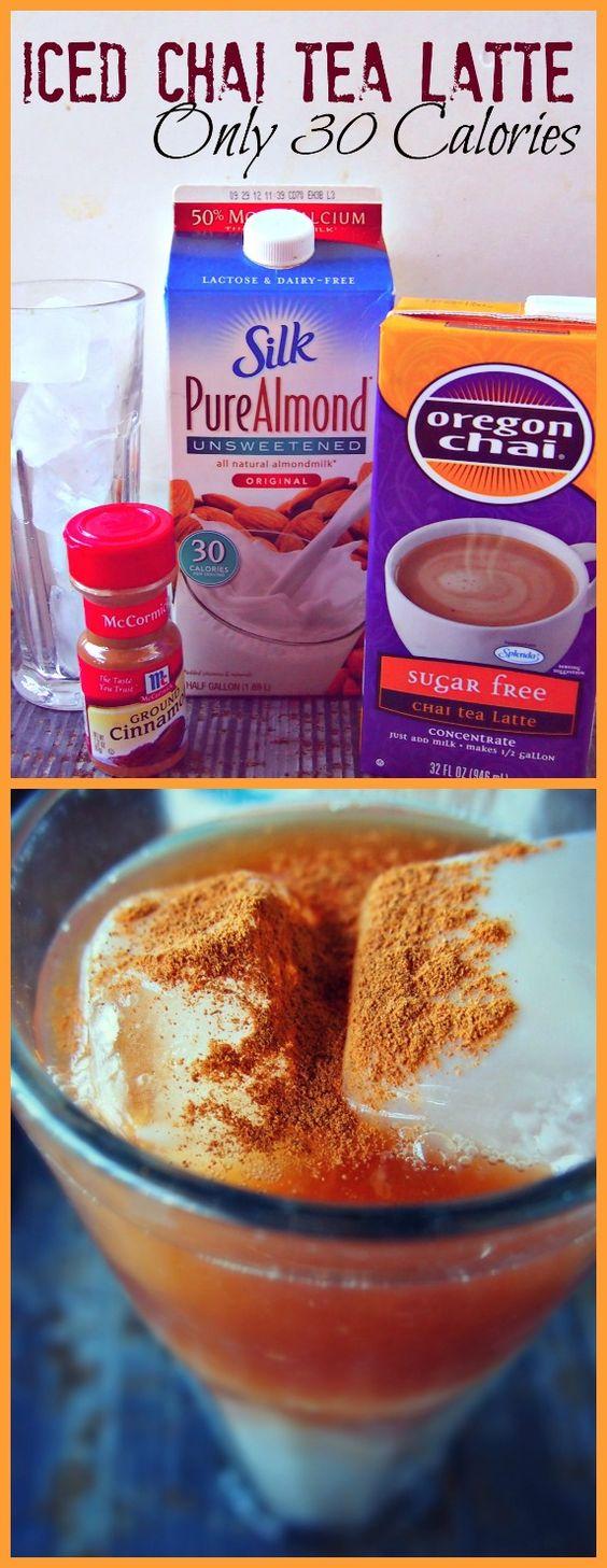 30 Calorie Iced Chai Tea Latte: