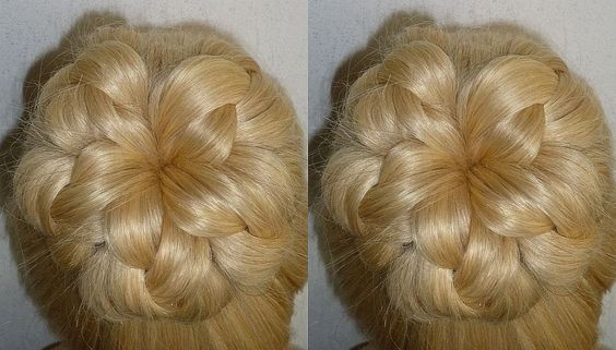Easy and Quick Prom/Wedding Hairstyle.Evening Donut Hair Bun Updo Hairst...
