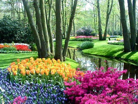 49 Tren Gaya Gambar Lukisan Pemandangan Taman Bunga Gambar Lukisan