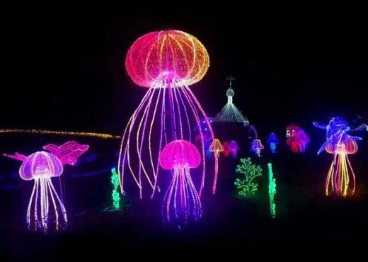 Beach Party Decorations Big Led Lighted Jellyfish With Images