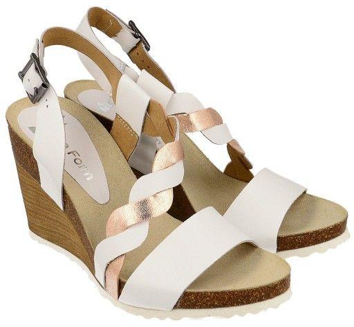 Biale Sandaly Na Koturnie Skora Naturalna Rozm 37 8175562238 Oficjalne Archiwum Allegro Shoes Wedges Fashion