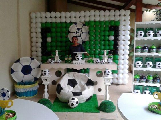 Cumplea os de ciro rafael con la tematica de futbol - Decoraciones de cumpleanos ...