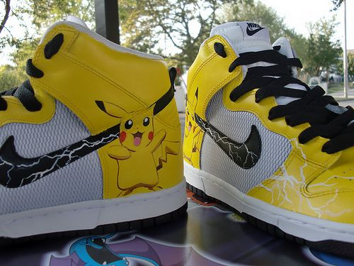 Proof Culture Custom Kicks – Custom Sneakers, Custom Shoes, Custom Trainers hand painted by Authentic Custom Sneaker Pimps » Pikachu