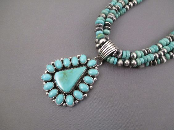 Royston Turquoise and sterling silver necklace