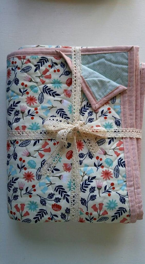 Check out this item in my Etsy shop https://www.etsy.com/listing/459522146/woodland-floral-baby-girl-quilt