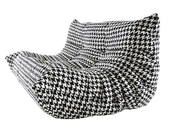 Sofá tapizado de tela TOGO Colección Togo by ROSET ITALIA | diseño Michel Ducaroy