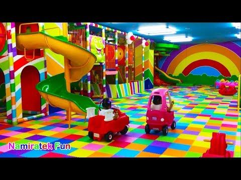 Riding A Car Toys Bathing Balloon Ball A Lot Once A Cool Slide Once With Friends Youtube Kartun Gambar Kartun Gambar