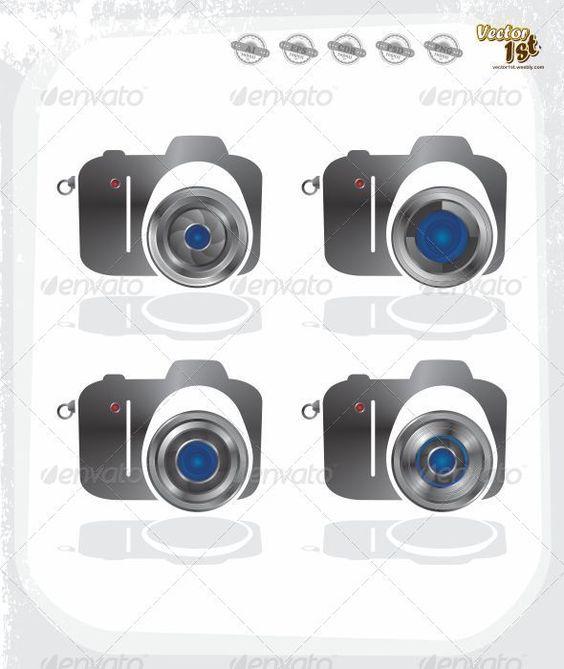 Realistic Graphic DOWNLOAD (.ai, .psd) :: http://vector-graphic.de/pinterest-itmid-1005887640i.html ... Camera Icon Set ...  camera, digital, icon, lens, media, multimedia, photography, sign, vector  ... Realistic Photo Graphic Print Obejct Business Web Elements Illustration Design Templates ... DOWNLOAD :: http://vector-graphic.de/pinterest-itmid-1005887640i.html