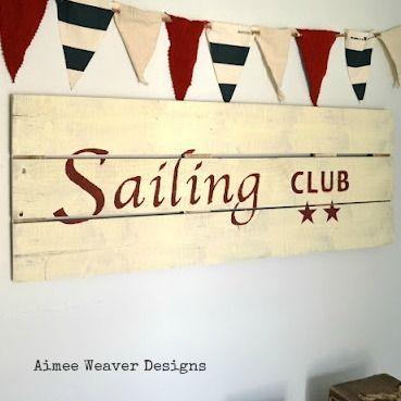 Sailing Club Wood Sign
