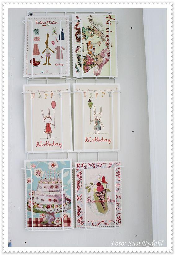 postales en la habitacion