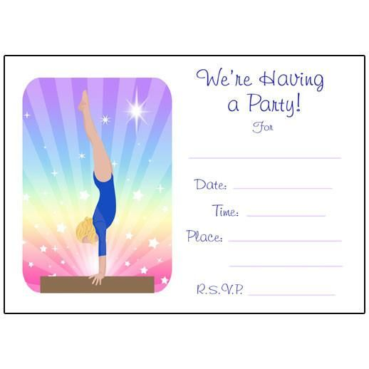 Free Gymnastics Birthday Invitation Templates Gymnastics Birthday Party Invitations Birthday Invitations Kids Gymnastics Birthday