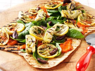 Vegetarian Mediterranean Pizza recipe - not so sure about the lemons ...