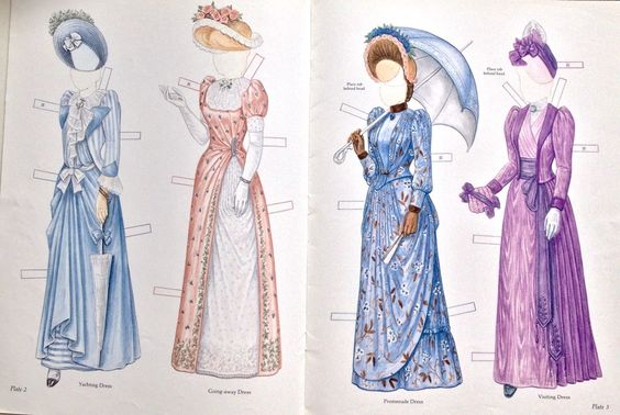 Victorian Bride Her Trousseau Paper Doll Book 2005 8 Pages Uncut | eBay