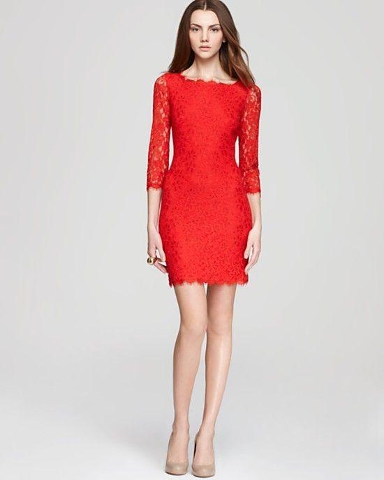 Diane Von Furstenberg Red Zarita Dress XS Size 0 | eBay