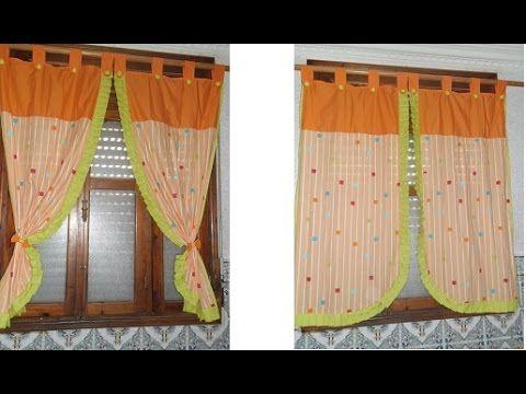 طريقة عمل ستارة نافذة المطبخ Youtube Home Decor Curtains Decor