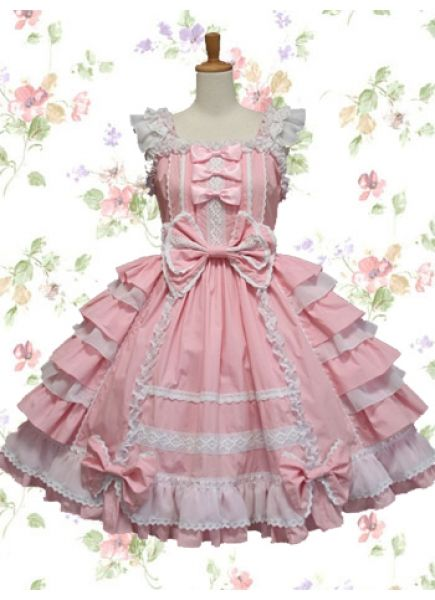 Cheap Sweet Pink And White Straps Sleeveless Empire Bow Knee ...