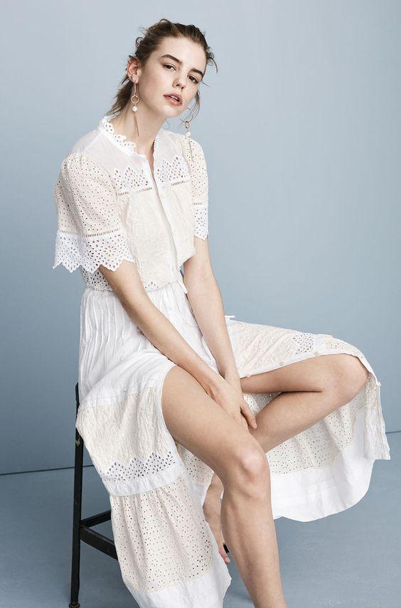 La Vie Embroidered Voile Dress | Rebecca Taylor
