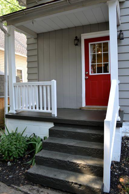 Best Painting A Concrete Porch Pinterest Red Front Doors 400 x 300