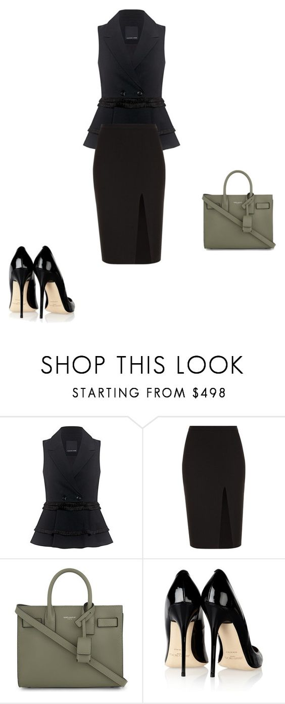 """""""Untitled #11672"""" by explorer-14576312872 ❤ liked on Polyvore featuring Marissa Webb, A.L.C., Yves Saint Laurent and Jimmy Choo"""
