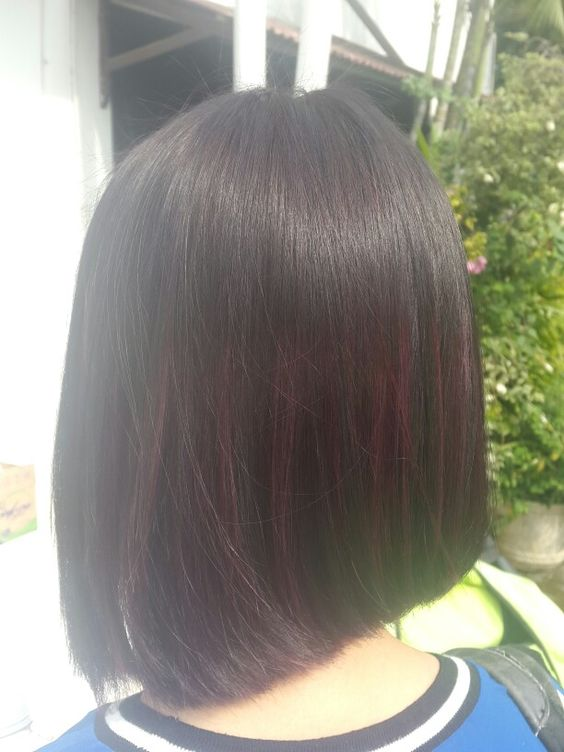 Soft purple ombre highlights