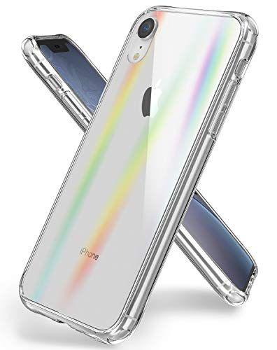 Oretech Coque Iphone Xr Polar Light Series Housse Etui Iphone Xr Transparente Arriere En Verre Trempe Tpu Silicone Anti Rayu Etui Iphone Coque Iphone Iphone
