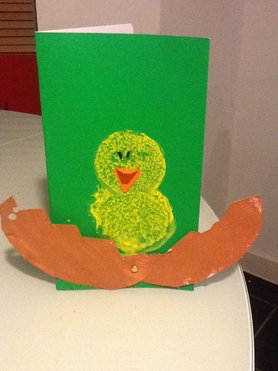 Look at this cheeky chick made by Stefan age 5! #Easter #Crafts
