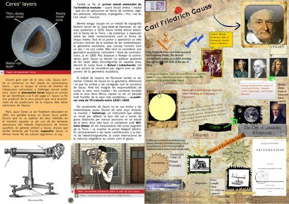 Carl Friedrich Gauss.  Page 4/4. Bocamolla Issue 4. Maths & Science.