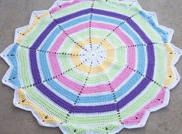 Nonagon Baby Blanket